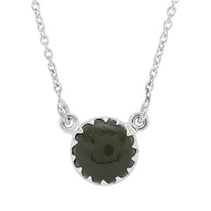 Nephrite Jade Necklace in Sterling Silver 4.60cts