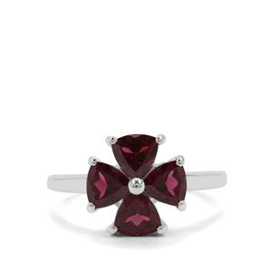 Tocantin Garnet Ring in Sterling Silver 2.25cts