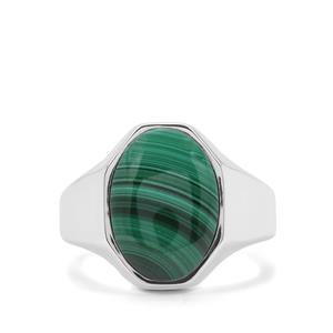 Malachite Ring in Sterling Silver 6.86cts