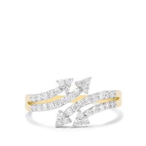 1/2ct Canadian Diamond 9K Gold Tomas Rae Arrow Ring