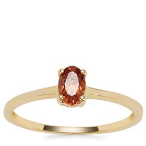 Singida Marsala Zircon Ring in 9K Gold 0.67cts