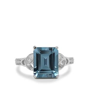Versailles Topaz Ring with White Zircon in Sterling Silver 5.60cts