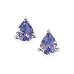Tanzanite Earrings in Sterling Silver 0.58cts