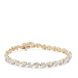 Diamond Bracelet in 9K Gold 2cts