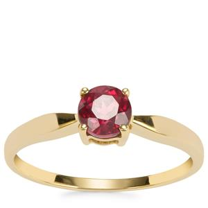 Malawi Garnet Ring in 9k Gold 0.63ct