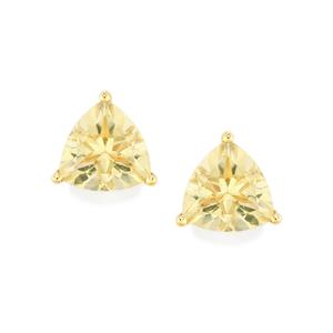 4.33ct Serenite 9K Gold Earrings