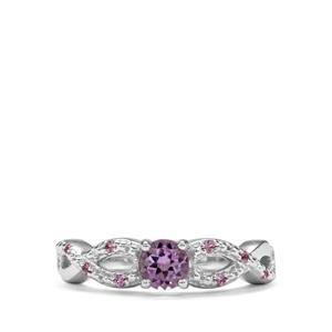 Moroccan Amethyst & Sakaraha Pink Sapphire Sterling Silver Ring ATGW 0.56cts