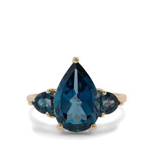 6.45ct Marambaia London Blue Topaz 9K Gold Ring