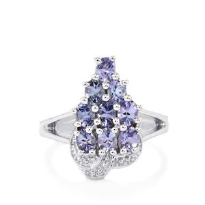 Tanzanite Ring in Sterling Silver 1.59cts