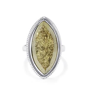 Drusy Pyrite Ring in Sterling Silver 23cts