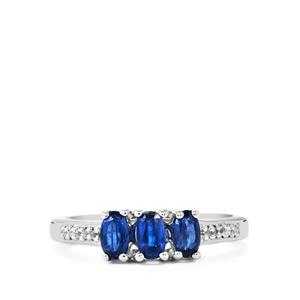 Daha Kyanite Ring with White Topaz in Sterling Silver 0.97ct