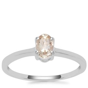 Champagne Danburite Ring  in Sterling Silver 0.45ct
