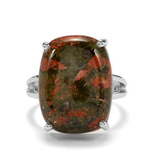 Unakite Ring in Sterling Silver 16.36cts