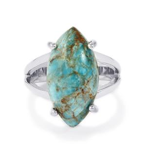 Fort-Dauphin Apatite Ring in Sterling Silver 10cts