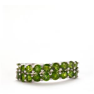 2.40ct Chrome Diopside Sterling Silver Ring