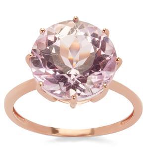 Minas Gerais Kunzite Ring in 9K Rose Gold 7.69cts