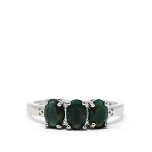 0.98ct Ethiopian Midnight Opal Sterling Silver Ring