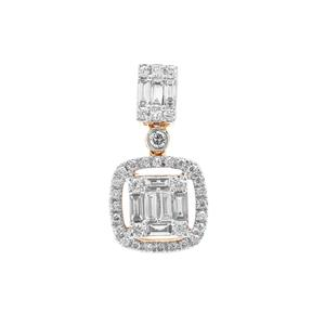 Diamond Pendant in 18K Gold  0.50cts