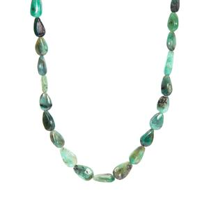 Zambian Emerald Graduated Necklace in Sterling Silver 105.87cts