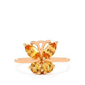 Ouro Preto Imperial Topaz Ring in 9K Rose Gold 1.39cts