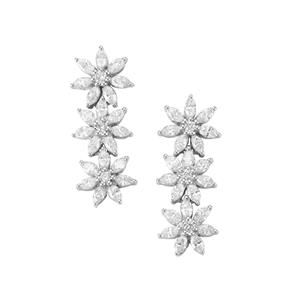 Diamond Earrings in 18k White Gold 1.75ct