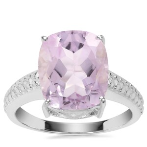 Rose De France Amethyst Ring in Sterling Silver 7cts