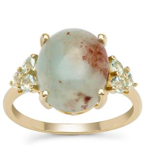 Aquaprase™ Ring with Aquaiba™ Beryl in 9K Gold 4.60cts