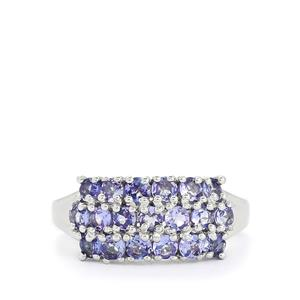 1.41ct Tanzanite Sterling Silver Ring