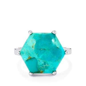 Cochise Turquoise Ring in Sterling Silver 8.38cts
