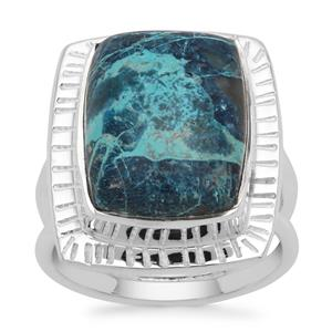 Namibian Shattuckite Ring in Sterling Silver 10cts