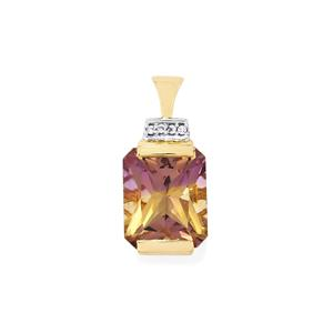 Anahi Ametrine Pendant with White Zircon in 9K Gold 4.07cts