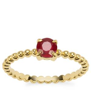 Malagasy Ruby Ring in Gold Plated Sterling Silver 0.75ct (F)