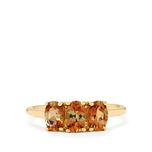 1.30ct Gouveia Andalusite 10K Gold Ring