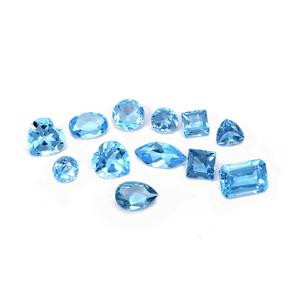 Swiss Blue Topaz Loose stone  5.74cts