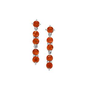 Loliondo Orange Kyanite Earrings in Sterling Silver 3.55cts