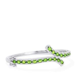 Chrome Diopside Bangle in Sterling Silver 5.22cts