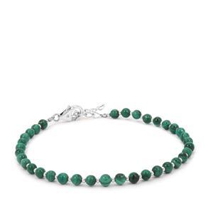 Malachite Bracelet in Sterling Silver 14.87cts