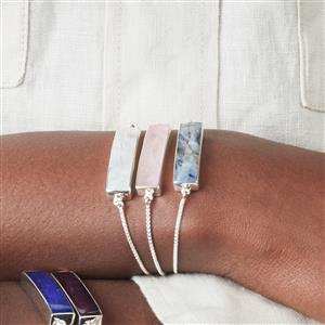 Rainbow Moonstone Slider Bracelet in Sterling Silver 9.85cts