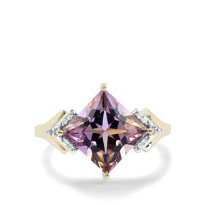 Anahi Ametrine Ring with Diamond in 9K Gold 3.52cts