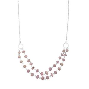 Mawi Kunzite Bead Necklace in Sterling Silver 32.50cts