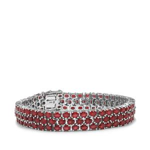 Malagasy Ruby Bracelet in Sterling Silver 32.25cts (F)