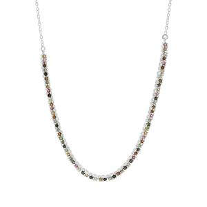 Multi-Colour Tourmaline Necklace in Sterling Silver 3.06cts