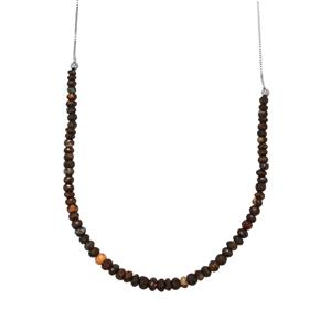 30ct Boulder Opal Sterling Silver Slider Graduated Bead Necklace