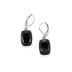 14.50ct Black Spinel Sterling Silver Earrings