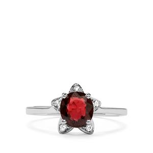 Burmese Multi-Colour Spinel Ring with White Zircon in Sterling Silver 1.44cts