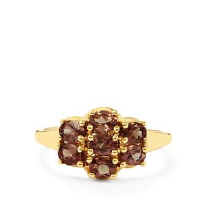 Bekily Color Change Garnet Ring  in 10k Gold 1.47cts