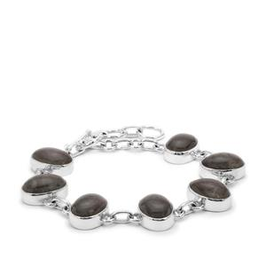 44ct Labradorite Sterling Silver Aryonna Bracelet