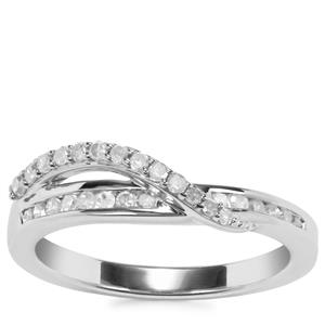 Diamond Ring in Sterling Silver 0.35ct