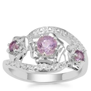 Rose du Maroc Amethyst Ring with Amethyst in Sterling Silver 0.66ct