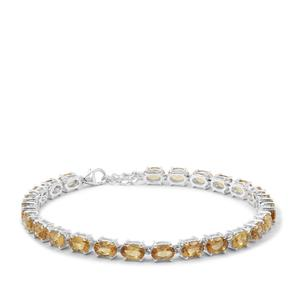 9.83ct Golden Tanzanian Scapolite Sterling Silver Bracelet
